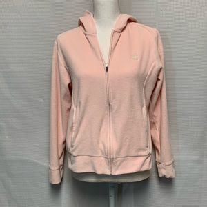 Ralph Lauren Pink Velour Zip-up Hoodie Size M